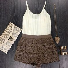 Cute clutch, love the shorts