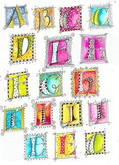 Art du Jour by Martha Lever: Versal Doodles - art lettering - #artlettering