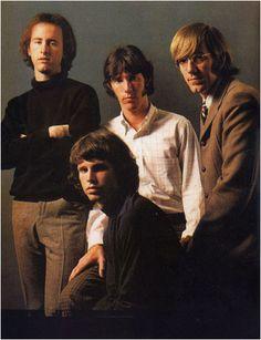The Doors Robbie Krieger, Jim Morrison, John Densmore and Ray Manzarek ---Rock Gods