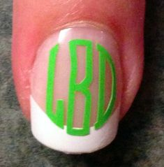 Excited to share this item from my shop: Nail art / manicure /pedicure vinyl decals - round monograms - Glasses, Cell phones, charger cords, Teacher gifts Monogram Nails, Monogram Decal, Monogram Shirts, Monogram Letters, Pedicure Nail Art, Gel Nails, Nail Polish, Stiletto Nails, Acrylic Nails