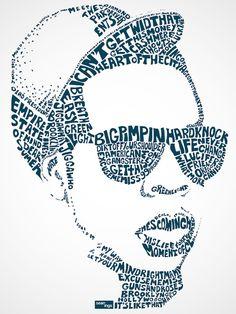 Using Song Lyrics, Artist Creates Typographic Portraits Of Popular Singers | athenna-design | Web Design | Design de Comunicação Em Foz do Iguaçu | Web Marketing | Paraná