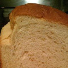 White Bread for 2 lb. Machine Until I found this recipe my bread didn't turn out very well. Now, I make it nearly everyday. It makes a great sandwich, too. The only problem is that it doesn't last long enough around here! I finally LOVE my bread machi White Bread Machine Recipes, Bread Maker Recipes, Country White Bread Machine Recipe, Oster Bread Maker Recipe, Sandwich Bread Recipe For Bread Machine, Breadmaker Bread Recipes, Bread Machine Bread, Bread Machine Cinnamon Rolls, Bread Man