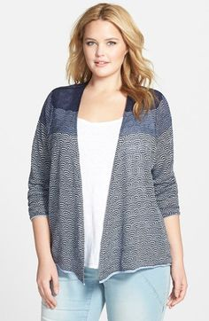 NIC+ZOE 'Fading Steps' Open Front Cardigan (Plus Size) available at #Nordstrom