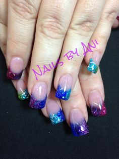 Colorful nails for summer.