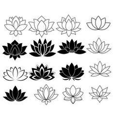 Hand-drawn lotus in east style Royalty Free Vector Image Lotus Flower Art, White Lotus Flower, Lotus Tattoo Design, Lotus Design, Flower Symbol, Flower Logo, Lotus Drawing, Lotus Painting, Lotus Vector