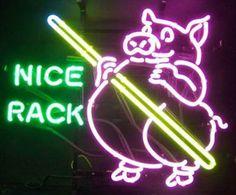 $225.99 from Walmart.  Neonetics Pig Pool Nice Rack Neon Sign