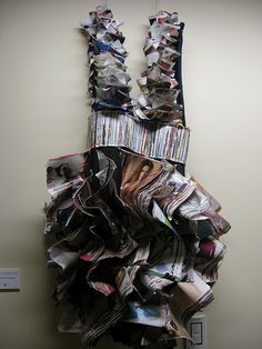 Recycled Magazine Dress