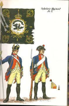 The Army of Frederick The Great of Prussia 1750. Infantry Regiment No.2