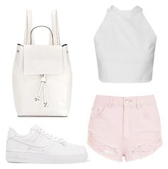 """""""Where to explore"""" by may-boo ❤ liked on Polyvore featuring Topshop, NIKE and French Connection"""