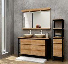 Industrial Toilets, Industrial Bathroom, Industrial Design Furniture, Furniture Design, Teen Boy Bathroom, Steel Furniture, Bathroom Cabinets, Interior Design Kitchen, Bathroom Inspiration