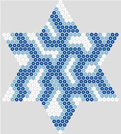 Winter star hama beads