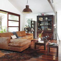 Piantana su treppiede in legno e metallo cromato H 140 cm SCOTT