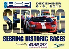 Historic sports car racing at Sebring, Florida December 6-8, 2013