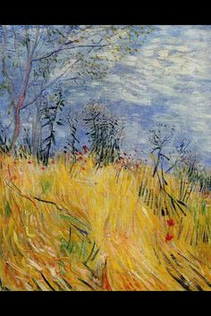 Edge of a Wheat field with Poppies, Spring 1887.  Van Gogh.