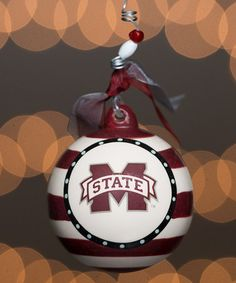 Look at this #zulilyfind! Mississippi State Bulldogs Stripe Ornament #zulilyfinds