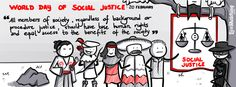 20 February - World Day of Social Justice - Social justice is an underlying principle for peaceful and prosperous coexistence within and among nations. We uphold the principles of social justice when we promote gender equality or the rights of indigenous peoples and migrants. We advance social justice when we remove barriers that people face because of gender, age, race, ethnicity, religion, culture or disability. So, let's do it :)