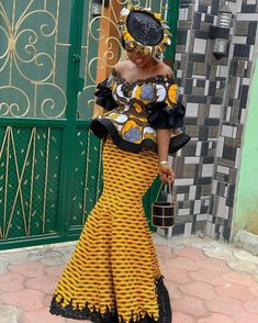 Today,we indulge you to have a look on this pretty Creative Ankara Skirt and Blouse for your our dear Besties . Latest African Fashion Dresses, African Print Dresses, African Dresses For Women, African Print Fashion, African Attire, African Dress Styles, African Women Fashion, Ankara Styles For Women, Ankara Dress Styles