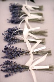 Lavender as guest gift