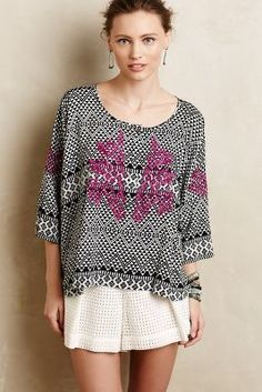 Maeve Embroidered Dolman Pullover #anthrofave #anthropologie
