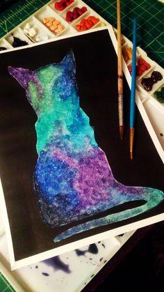 Galaxy Cat by JinxedIam