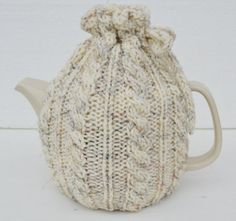 Oatmeal Tea Cosy Oatmeal Teapot Cozy cable design by Sizana Knitted Boot Cuffs, Knit Boots, Wellies Boots, Tea Cozy, Yarn Crafts, Baby Knitting, Valentine Gifts, Primary Colors, Cosy