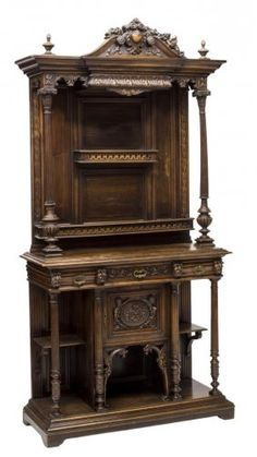 FRENCH RENAISSANCE REVIVAL CARVED SIDEBOARD 19THC