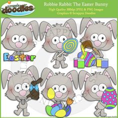 Robbie Rabbit The Easter Bunny Clip Art - $2.00 : Scrappin Doodles, Creative Clip Art, Websets & More