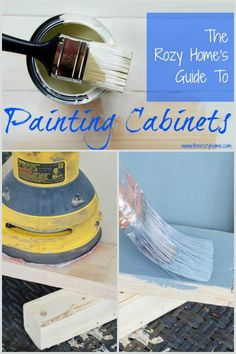 Guide to painting cabinets ~ save money and paint them the right way.