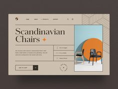 Interior Store Website by Pham Huy for Fireart Studio on Dribbble Ux Design, Page Design, Layout Design, Branding Design, Graphic Design, Packaging Design, Website Design Inspiration, Scandinavian Chairs, Web Layout