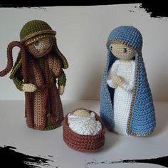 Nativity Ornaments, Crochet Christmas Ornaments, Christmas Crochet Patterns, Holiday Crochet, Christmas Knitting, Christmas Crafts, Crochet Dolls Free Patterns, Doily Patterns, Crochet Toys
