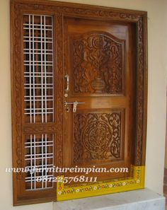 Wooden Front Door Design, Wooden Front Doors, House Front Design, Door Design Images, Single Door Design, Pooja Room Door Design, Window Grill Design, Modern, Furniture