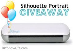 Enter to win a #silhouette portrait @DIY Show Off