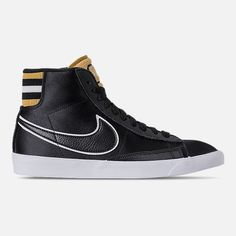 1809582bfbd636 Right view of Women s Nike Blazer Mid Premium Casual Shoes in Black Wheat  Gold
