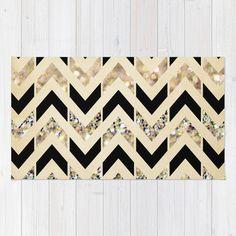 Gold Polka Dots Rug   Throw rugs Black   Gold Glitter Herringbone Chevron on Nude Cream Rug. Black And Gold Bathroom Rugs. Home Design Ideas