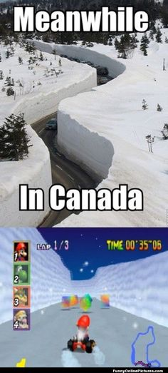 Canadian Winter Funny Picture