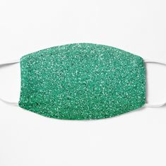 Teal Ombre Glitter Face Mask
