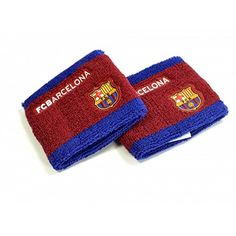 FC Barcelona Unisex Side Logo Wristbands Pack Of 2 for sale online European Soccer, Fc Barcelona, Bordeaux, Unisex, Wool, Best Deals, Chihuahua, Runners, Poetry