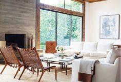 Neutral and crisp living room