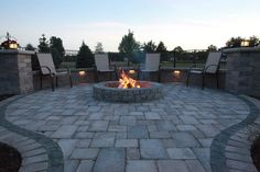 Baron Landscaping » Outdoor Fireplace Pictures, Cleveland Landscaping, Landscape Contractors