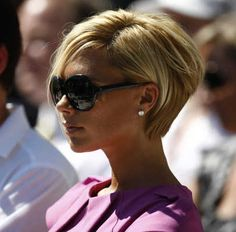 Short hair tucked behind ear - Victoria Beckham -