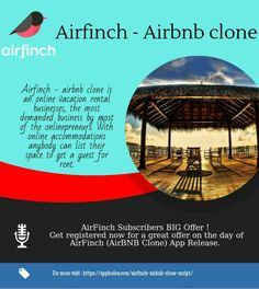 Airfinch clone script is an online rental spacing app. It will be good startup for the enterprenurs who is searcing for the new idea for business.