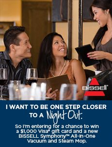 The new BISSELL Symphony™ All-in-One Vacuum and Steam Mop gets you to what you'd really like to be doing. I would like to be to a Night Out! Bissell Symphony AIO Vacuum and Steam Mop take my away!