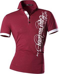 Jeansian Mens Dress Casual Slim Fit Short Sleeve T-Shirts…