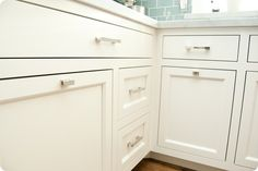 timeless, clean cabinetry with updated classic pulls