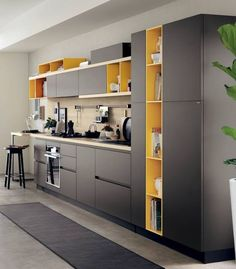 Bookshelf o Foodshelf? One Wall Kitchen, Kitchen Room Design, Kitchen Dinning, Kitchen Cabinet Design, Modern Kitchen Design, Home Decor Kitchen, Kitchen Layout, Interior Design Kitchen, Kitchen Furniture