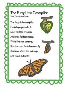 Browse over 20 educational resources created by Camp Kindergarten in the official Teachers Pay Teachers store. Kindergarten Songs, Preschool Music, Preschool Science, Preschool Classroom, Preschool Learning, Preschool Spring Songs, Montessori Elementary, Caterpillar Song, Caterpillar Preschool