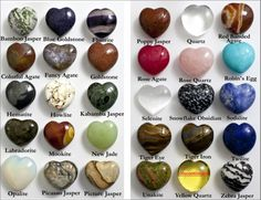 One of our all time best sellers; these wonderful polished, semi-precious stone hearts make a perfect gift! They measure approximately by Our puffed stone hearts vary in size and thic Crystals Minerals, Rocks And Minerals, Crystals And Gemstones, Stones And Crystals, Gemstones Meanings, Rock Identification, Yellow Quartz, Rose Quartz, Crystal Healing Stones