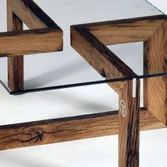 Snake, un projet de Samuel Ott, présenté par Faber.Place. Wood Table Design, Snake Design, Wood Planks, Coffee Tables, Shelves, Decoration, Furniture, Home Decor, Diy And Crafts