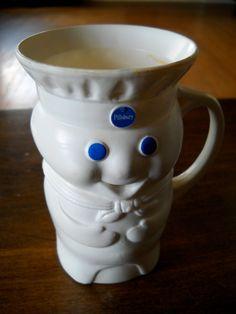 #Vintage #1970s #Pillsbury #Doughboy #PillsburyDoughboy 8oz #Mug by DestineJewellry on Etsy