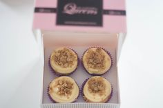 Our September 2015 cupcake flavour of the month: Blueberry Crumble!
